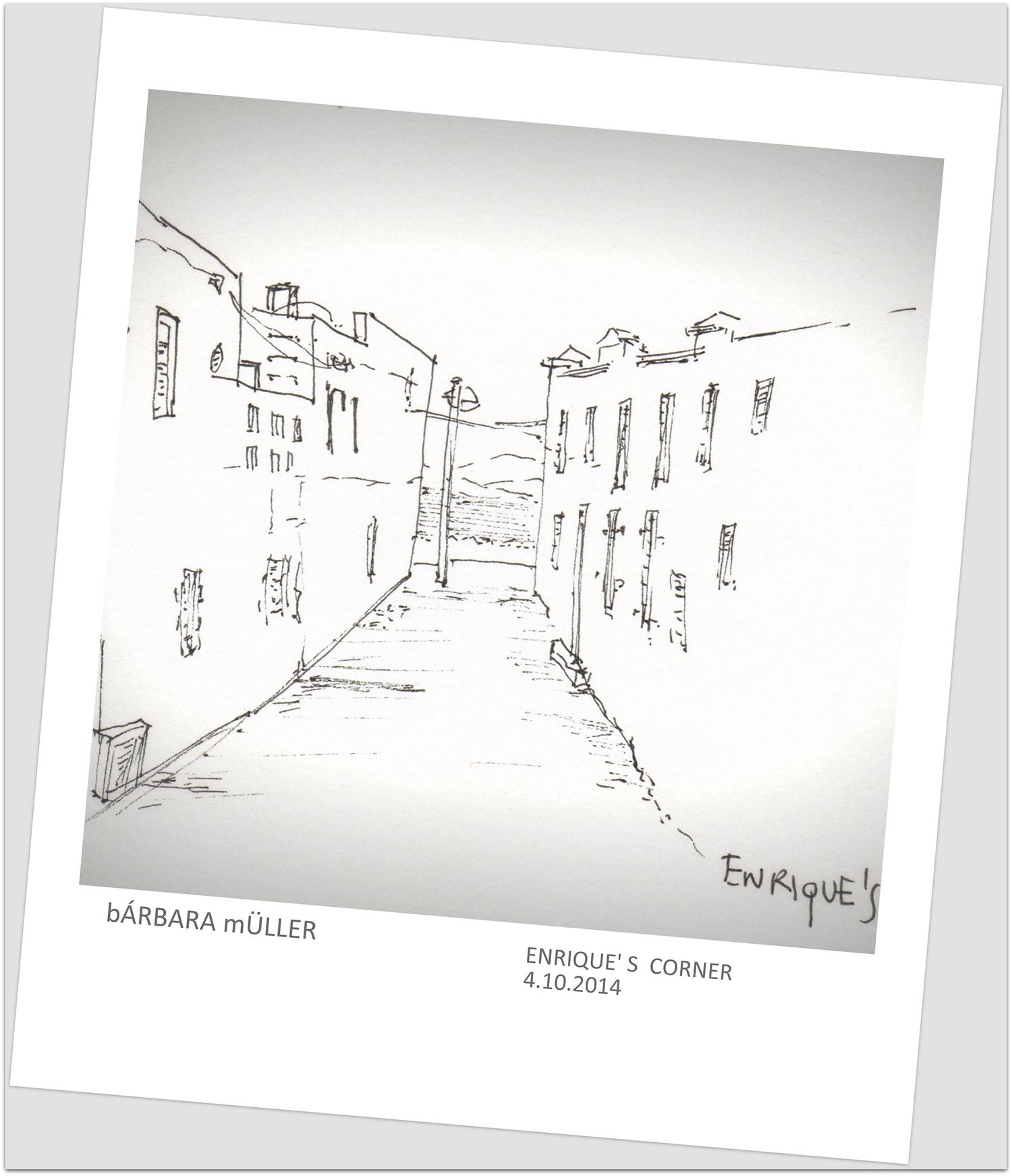 rincones de Enrique en Famara, Lanzarote, Islas Canarias España por Bárbara Müller dibujos de oultline en Lanzarote
