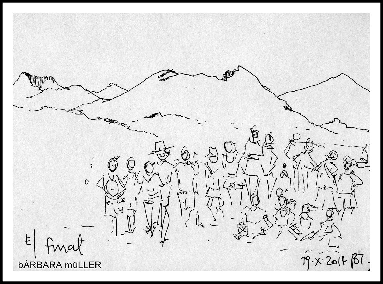 festival de cuentos palabras al vuelo dibujo entre volcanes de Barbara muller parque timamfaya  lanzarote islas canarias españa