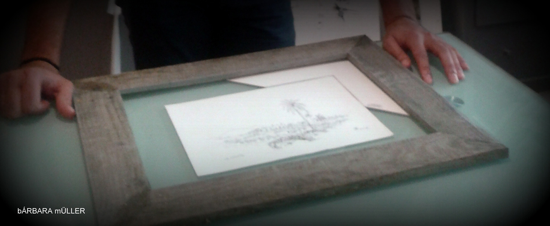 marco paspartu paisaje de lanzarote geria islas canarias