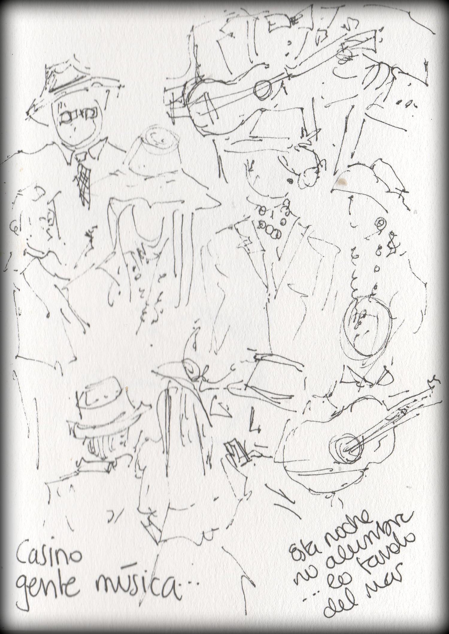 bárbara müller dibujos de lanzarote islas canarias carnaval de los indianos Santa Cruz de la Palma urban sketchers