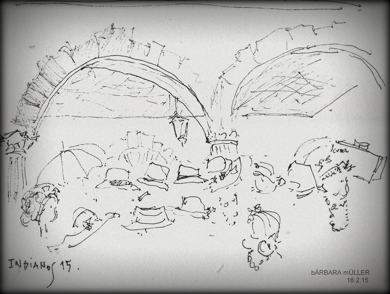 recordando instagram bárbara müller dibujos de lanzarote islas canarias carnaval de los indianos Santa Cruz de la Palma urban sketchers