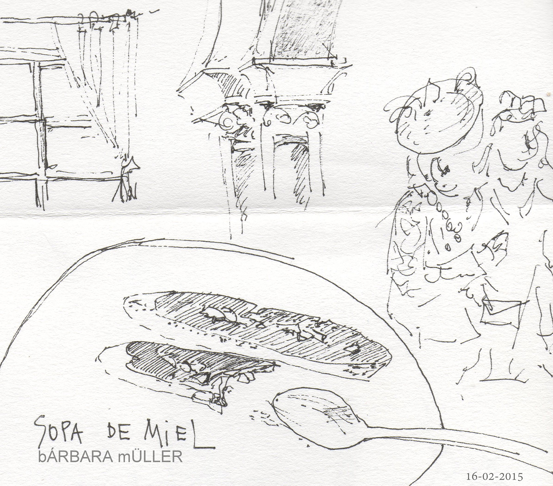 recordando bárbara müller dibujos de lanzarote islas canarias carnaval de los indianos Santa Cruz de la Palma urban sketchers