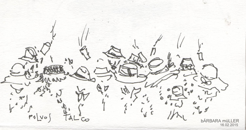 bárbara müller dibujos de las islas canarias carnaval de los indianos Santa Cruz de la Palma urban sketchers