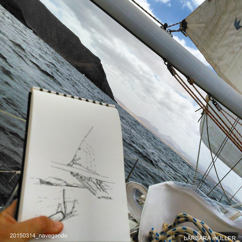 acuarelas y dibujos de bárbara muller lanzarote islas canarias lobos outline la graciosa espaaña