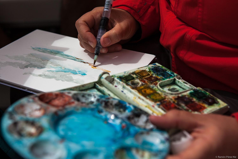 dibujos y acuarelas de bárbara muller lanzarote islas canarias lobos españa