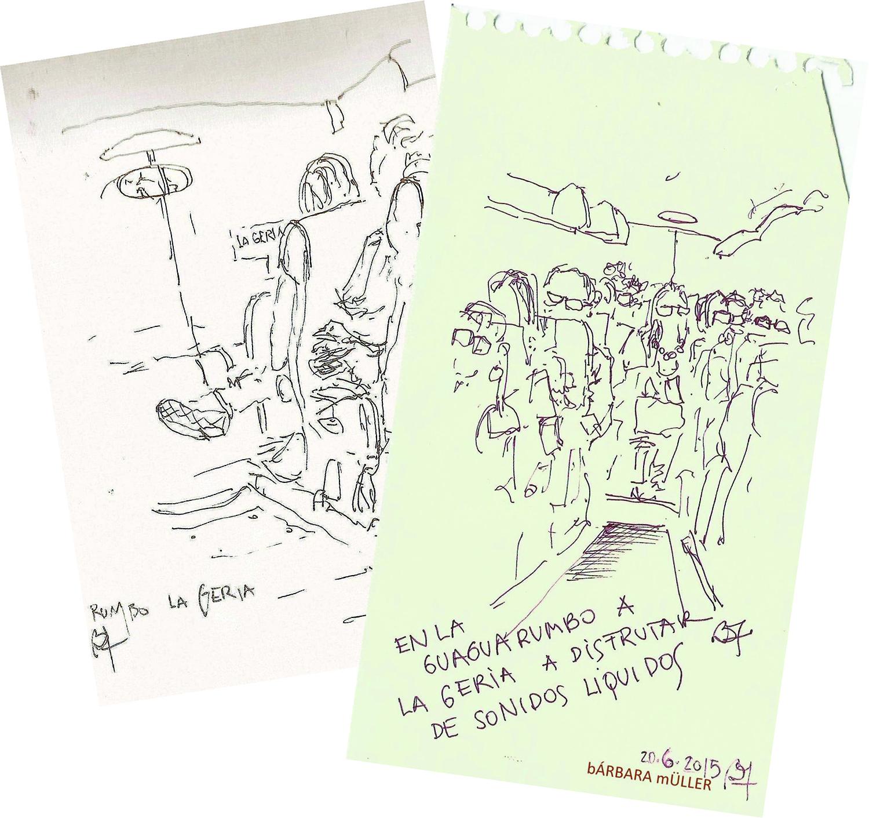 Bárbara Müller dibujos urban sketecher lanzarote  islas canarias dibujos paisaje sonidos liquidos música la geria vetusta morla anaut los 300 guagua bodega rubicón bodega la geria vino wine