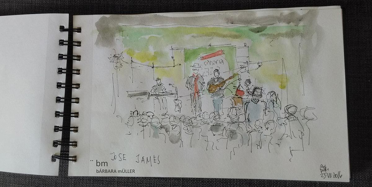 Música bmarquitecta bárbara Müller outline dibujos urban sketchers lifestyle nopuedoparardedibujar watercolour lanzarote canarias lifestlyle