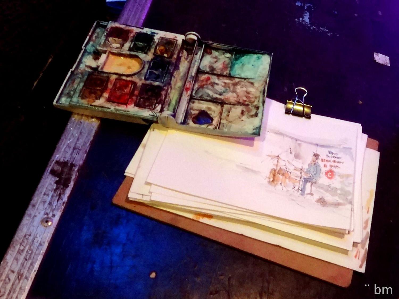 Música bmarquitecta bárbara Müller outline dibujos urban sketchers lifestyle nopuedoparardedibujar watercolour lanzarote canarias lifestlyle jazz soul cosmosoul Cosmopolitan miac cultura Lanzarote cabildo museo arte contemporaneo
